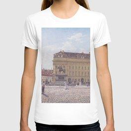 The Josef Square In Vienna 1831 by Rudolf von Alt | Reproduction T-shirt