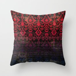 -A12- Red Blue Gardient Colored Moroccan Artwork. Throw Pillow