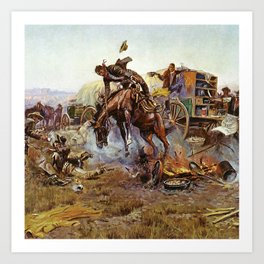 C.M. Russell Cook's Troubles Vintage Western Art Art Print