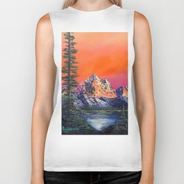 Mountains in Canada Biker Tank