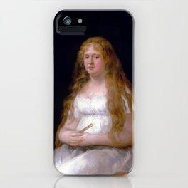 Goya Josefa de Castilla Portugal y van Asbrock de Garcini iPhone Case