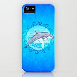 Dolphin Maori Sun iPhone Case