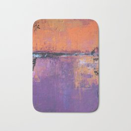 Poetic City - Urban Abstract Painting Bath Mat