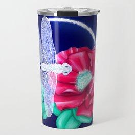 Full bloom | Dragonfly loves roses Travel Mug