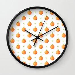 Peach Pattern Wall Clock