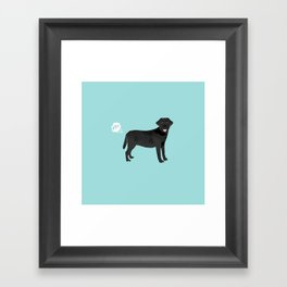 Black Lab funny fart dog breed gifts labrador retrievers Framed Art Print