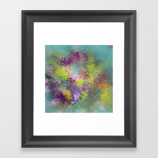 Impressionistic Abstract Framed Art Print