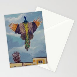 Flying Peacock Stationery Cards