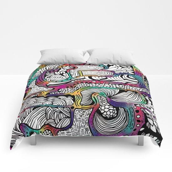 El reflejo en color Comforters