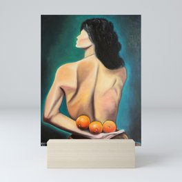 Three oranges Mini Art Print