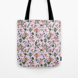 Fennec Foxes in Pink Tote Bag