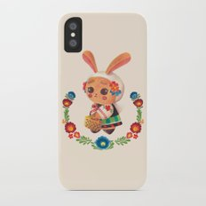 The Cute Bunny in Polish Costume iPhone X Slim Case