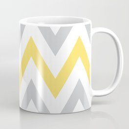 Gray & Yellow Chevron Coffee Mug