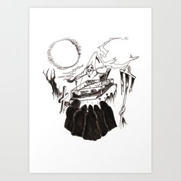 Night Funeral Art Print