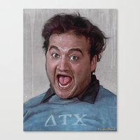 snl Canvas Prints featuring Animal House (Food Fight) by lensebender