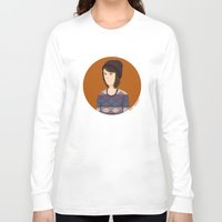 tegan and sara Long Sleeve T-shirts featuring Tegan and Sara: Tegan portrait #3 by Cas.