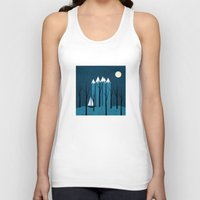 sailing Tank Tops featuring Sailing by Illusorium