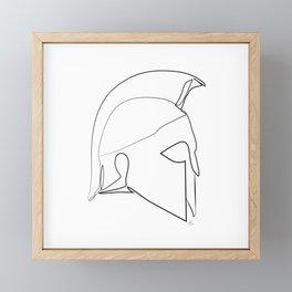 """ Gaming Collection "" - Warrior Helmet Framed Mini Art Print"