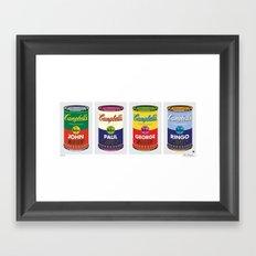 Horizontal Beatle Soup Cans Framed Art Print