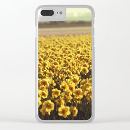 Narcissus field #2 Clear iPhone Case