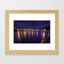 Ilfracombe Harbour by Night  Framed Art Print