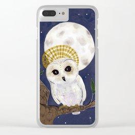 Holy Saint Little Owl Clear iPhone Case