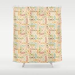 Retro glasses Shower Curtain