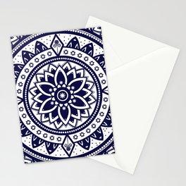 Mandala Blue Spiritual Zen Bohemian Hippie Yoga Mantra Meditation Stationery Cards