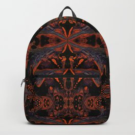 Psycho - Spooky Halloween Orange and Black Theme by annmariescreations Backpack