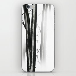 wood, snow and fog iPhone Skin