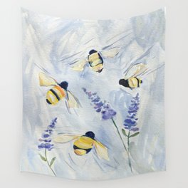 Summer Bees Wall Tapestry