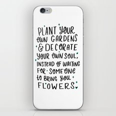 Plant Your Own Garden iPhone & iPod Skin