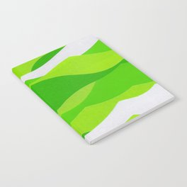 Waves - Lime Green Notebook