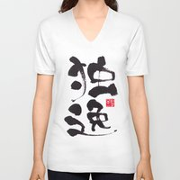 germany V-neck T-shirts featuring Germany by shunsuke art