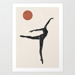 Black swan Art Print