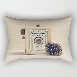 Retro Camera and Pine Cone Rectangular Pillow