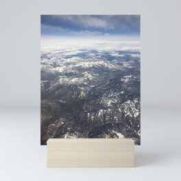 Flying over the Sierra Nevada Mountains Mini Art Print