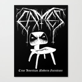 Modern Black Metal Canvas Print