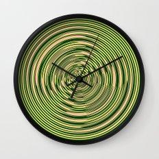 Warped Rings Wall Clock