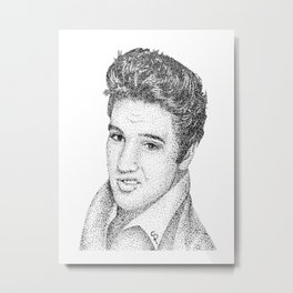 Elvis (Pointillism) Metal Print