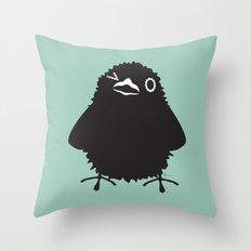 Baby Raven, Wink Throw Pillow