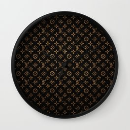 LV Pattern Wall Clock