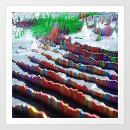 GeoLogical Stripes Art Print