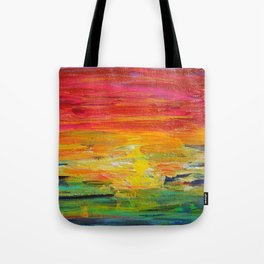 Ombre Rainbow Sunset Tote Bag