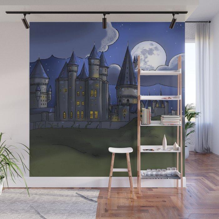 Castle Hogwarts Harry Potter Wall Mural by monigotadas ...