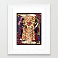 utena Framed Art Prints featuring Utena   Moon by andrea cecelia