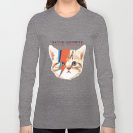 david meowie Long Sleeve T-shirt