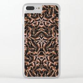 Dark Intricate Modern Tribal Clear iPhone Case
