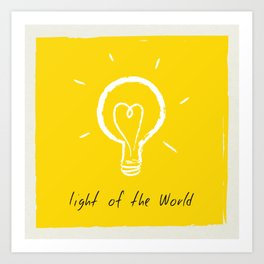 Light of the World - yellow Art Print