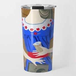 Lady in a blue dress Travel Mug